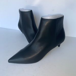 Charles By Charles David Black Leather Booties
